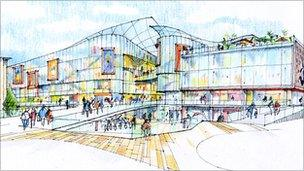 Artist's impression of the planned development