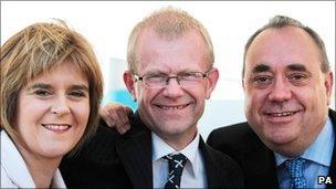 Nicola Sturgeon, John Mason and Alex Salmond