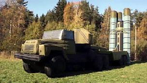 An inflatable missile-launcher in Russia