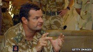 Graham Binns in Basra in 2003