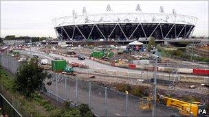 Construction on the 2012 Olympic Park