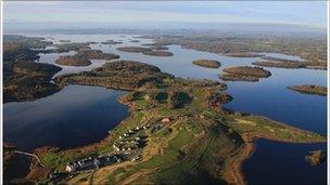 lough erne resort aerial view