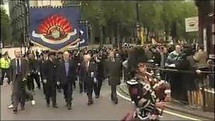 Firefighters march in London