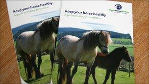 Booklets about horse health