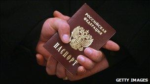A Russian passport