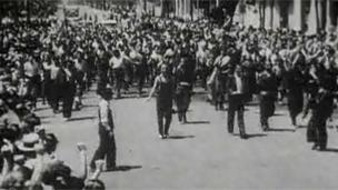 Marches against the fascist regime