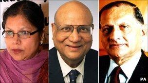 Baroness Uddin, Lord Paul and Lord Bhatia