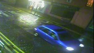 CCTV image of car