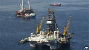 The site of the Deepwater Horizon Oil Spill in Gulf of Mexico, off the coast of Louisiana (file photo)