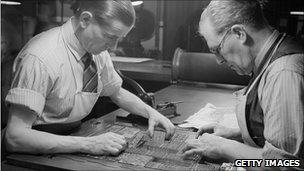 Typesetters in the Olden Days