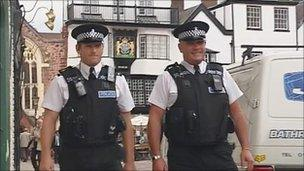 Policemen on beat