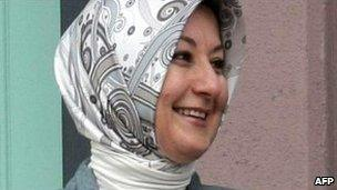 Hayrunnisa Gul, wife of Turkish President Abdullah Gul, in Ankara, 19 October