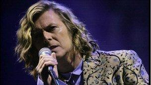 David Bowie performs at Glastonbury Festival in 2000