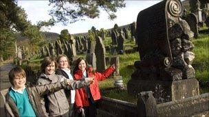 Treorchy Primary School at Treorchy Cemetery