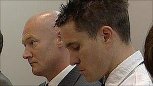 Matthew Neale (left) and David Birkenshaw in court