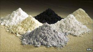 Oxides of rare earth metals