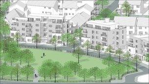 Artist's impression of Stanwell New Start scheme