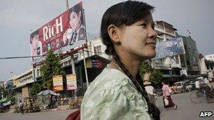 Burmese woman in Mandalay, file image
