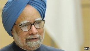 Indian Prime Minister Manmohan Singh in Tokyo on 25 October 2010