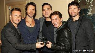 Take That and Robbie Williams
