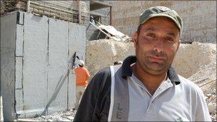 Palestinian labourer, Abdel Salam Alami