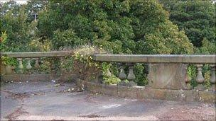 The damaged River Lune viaduct