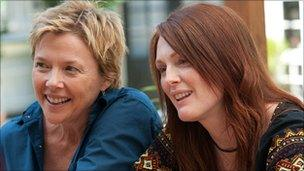 Annette Bening (l) and Julianne Moore in The Kids Are All Right