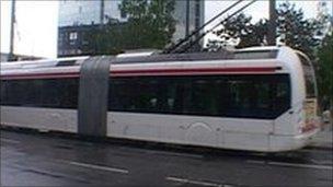 Trolleybus in Lyon, France
