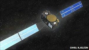 Artist's impression of Galileo satellite in orbit (OHB)