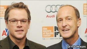Charles Ferguson (right) with actor Matt Damon