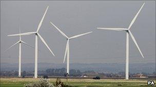 Wind farm in Kent