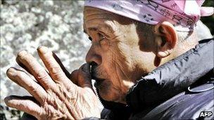 File photo of Mbah Maridjan, Mount Merapi's spiritual gate keeper - 17 May 2006.
