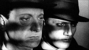 Harvey Braban and John Longden in Hitchcock's Blackmail