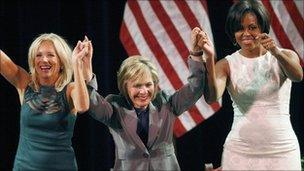 Jill Biden, Barbara Boxer and Michelle Obama