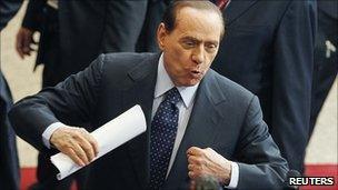 Italian PM Silvio Berlusconi