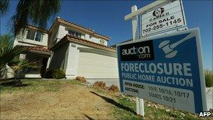 US house under foreclosure