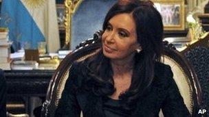 Argentine President Cristina Kirchner resuming her official duties on 1 November