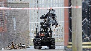 Army bomb squad robot