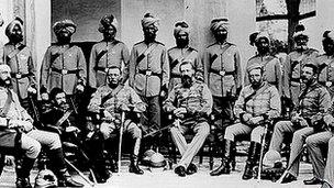 British and Indian soldiers 1880