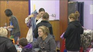 Affected residents at Fiddler's Lane Primary School