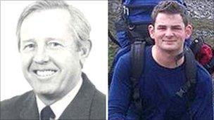 L-R: Air crash victims Hylton Price and Andrew Marsh
