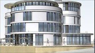 Plans for the Fleetwood Pier site include building a hotel on the prom (Pic courtesy of SDMK Design)