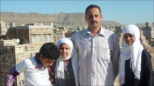 Amin al-Sanagani and his family