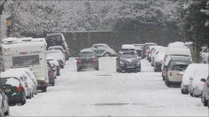 Belgrave Road, Bristol during last January's snow