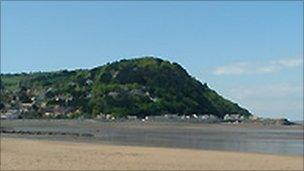 View of the beach at Minehead