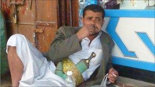 A Yemeni man in Sanaa