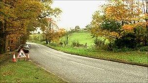The crash happened on the Tullyraine Road between Lurgan and Banbridge