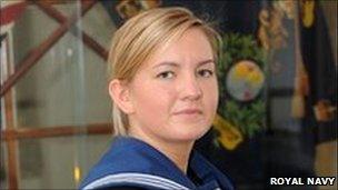 Kate Nesbitt. Pic: Royal Navy