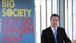David Cameron launching Big Society policy