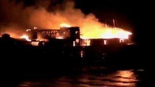 Fire on Hastings Pier